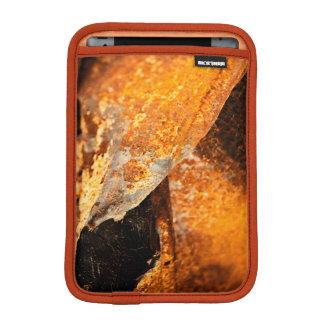 urban grunge rust orange twisted metal iPad mini sleeve
