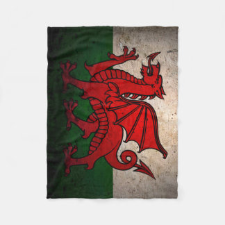 Urban Grunge Wales Flag Fleece Blanket