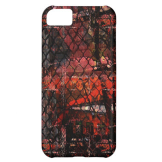 Urban Grunge with Wire Fence iPhone 5C Cases