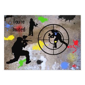 Urban Guerilla Paintball Invited 13 Cm X 18 Cm Invitation Card