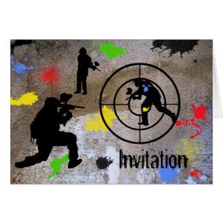 Urban Guerilla Paintball Invited Cards