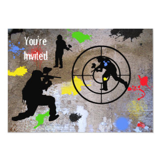 Urban Guerilla Paintball You're Invited 13 Cm X 18 Cm Invitation Card