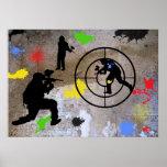 Urban Guerrilla Paintball Poster