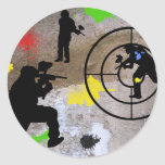 Urban Guerrilla Paintball Round Stickers