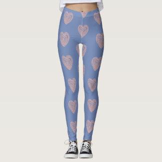 Urban Heart Leggings Blue