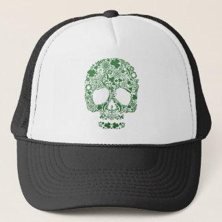 Urban & Hip St .Patricks's Day Skull Trucker Hat