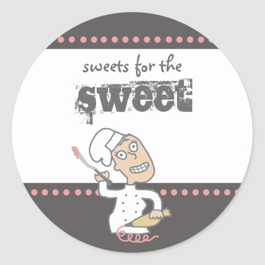 urban indie comic pastry chef baking gift tag s...