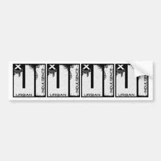 Urban Indulgence Stickers X4 Bumper Sticker