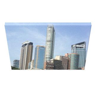 Urban Jungle Cityscape Kowloon Hong Kong Stretched Canvas Prints