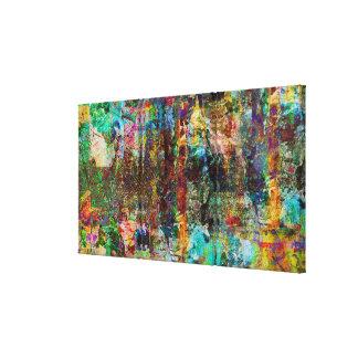 Urban Jungle-Digital Original Art Stretched Canvas Print