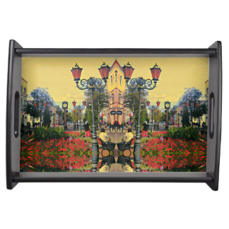 Urban Landscape Psychedelic Effect Tray