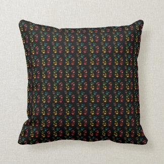Urban Lights Colorful Cute Owl Pillow Black
