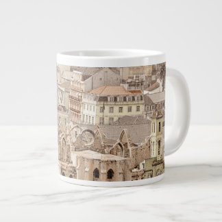 URBAN LISBON CITYSCAPE PHOTOGRAPH LARGE COFFEE MUG