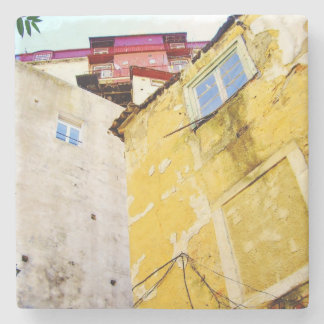 URBAN LISBON (YELLOW HOUSE) Marble Stone Coaster