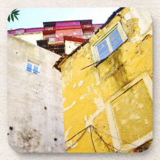 URBAN LISBON (YELLOW HOUSE) Plastic Coaster