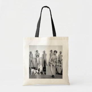URBAN MANNEQUINS BLACK AND WHITE PHOTOGRAPH TOTE BAG