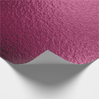 Urban Metallic Burgundy Beetroot Abstract Metallic Wrapping Paper