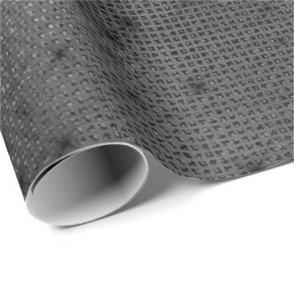 Urban Minimal Gray Black Elegant Grill Sequins Wrapping Paper