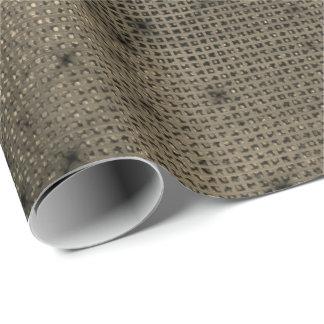 Urban Minimal Sepia Gold Black Elegant Grill Sequ Wrapping Paper