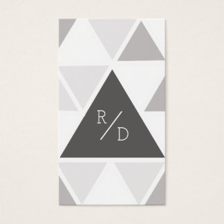 Urban & Modern Triangle   Custom Business Initials Business Card