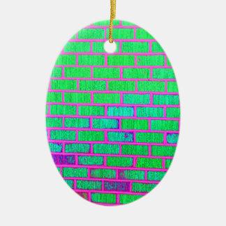 Urban Neon Brick Wall Christmas Ornament