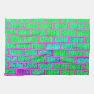 Urban Neon Brick Wall Tea Towel