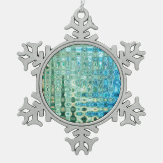 Urban Oasis Pewter Snowflake Ornament by CL Brown
