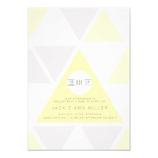 Urban Pastel Triangles | Baby Shower 13 Cm X 18 Cm Invitation Card