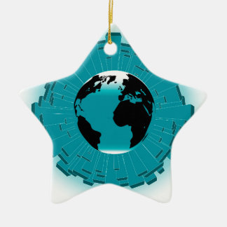 Urban Planet Earth Christmas Ornament
