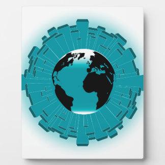 Urban Planet Earth Plaque