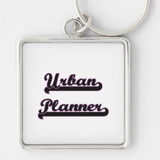 Urban Planner Classic Job Design Silver-Colored Square Key Ring