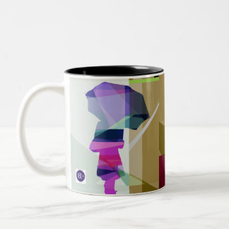 Urban rain mug3- black inside Two-Tone coffee mug