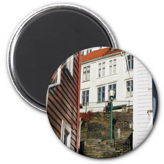 Urban Reader - Bergen in Norway Magnet