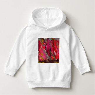 Urban Scratch: Red and pink Hoodie