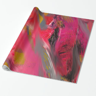 Urban Scratch: Red and pink Wrapping Paper