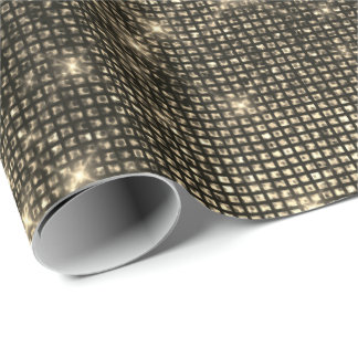 Urban Sepia Gold Shimmering Metallic Sparkly VIP Wrapping Paper