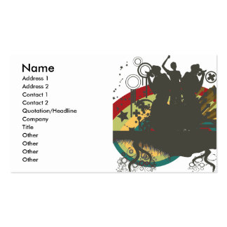 urban singers vector business card templates