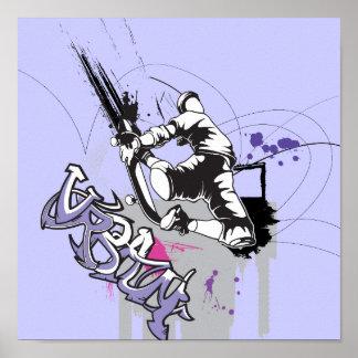 urban sk8er graffiti design poster