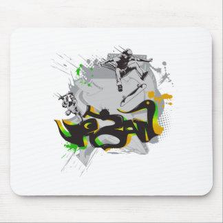 urban skateboard graffiti mouse pads