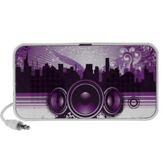 Urban Skyline and Speakers Mp3 Speaker