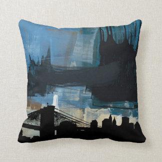 urban skyscraper  American MoJo Throw Pillows