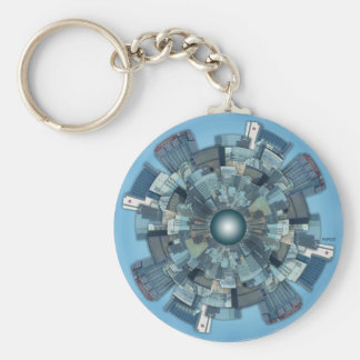 Urban Sprawl Basic Round Button Key Ring