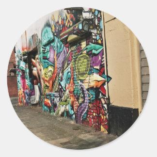 Urban Street Art Classic Round Sticker