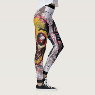 Urban Street Art Design Life and Death Leggings