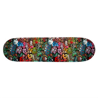 Urban street art Graffiti characters pattern 21.6 Cm Old School Skateboard Deck