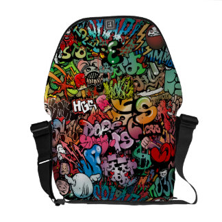 Urban street art Graffiti characters pattern Commuter Bag
