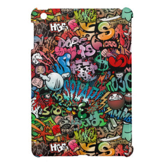 Urban street art Graffiti characters pattern iPad Mini Cases
