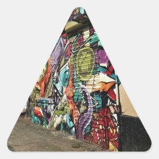 Urban Street Art Triangle Sticker