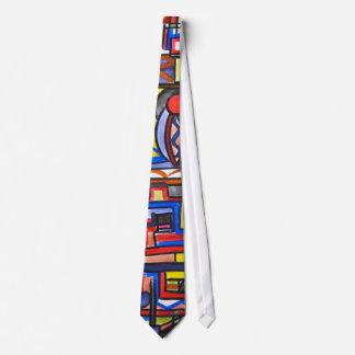 Urban Street Two-Abstract Art Geometric Handpainte Tie