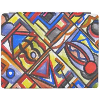 Urban Street Two-Abstract Art Geometric iPad Smart Cover